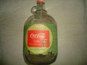 COCA COLA ONE GALLON GLASS JUG BOTTLE 1950s  Syrup Coke with CAP