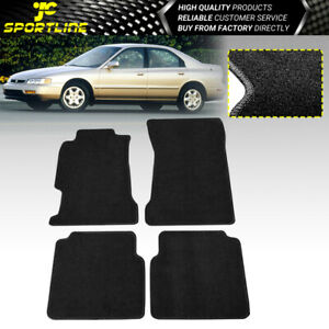 Fits 94 97 Accord 2 4 5dr Oe Fitment Car Floor Mats Front Rear Black Nylon