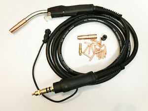 Heavy Duty Mig Welding Gun Miller Connection 250a 15 Fits Tweco 2 Miller M 25
