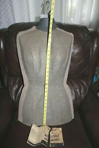Vintage Female Mannequin Adjustable Seamstress Dress form W Metal Stand 1960s