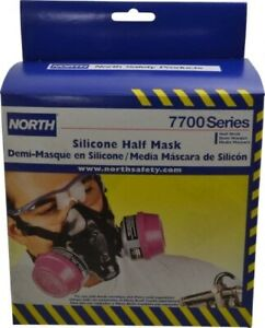 North 7700 Series 770030l Half Mask Resusable Respirator Large With Filters
