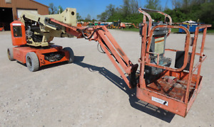 2007 Jlg E400ajpn 40 Electric Articulating Boom Man Lift 48v New Batteries