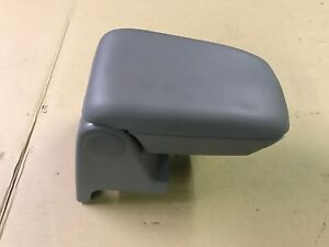 87 93 Ford Mustang Titanium Gray Center Console Armrest Storage Smoke Grey Oem