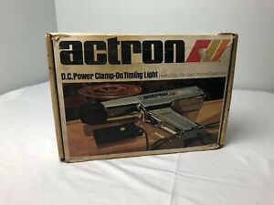 Vintage Actron L 100 D C Power Clamp On Timing Light Made Chrome Plated