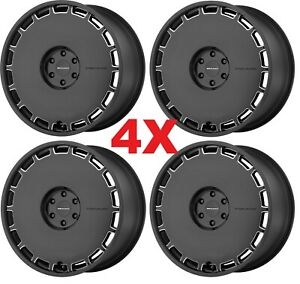 22 Black Wheels Rims 5x115 Full Face 300 Charger Magnum Challenger