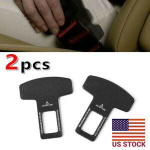 2pcs Car Seat Belt Buckle Adjusters Seatbelt Clip Locking Stopper Clamp Strap