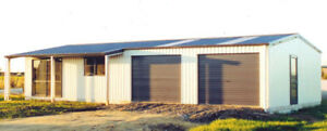 Steel Insulated House W Porch metal Building Shop Kit With Or W out Garage