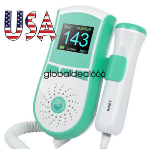 Medical Prenatal Baby Sound Lcd Display Fetal Doppler 3mhz Prenatal Monitor Gel