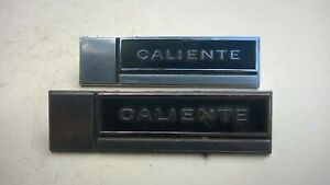 1965 Mercury Comet Caliente Emblems Pair