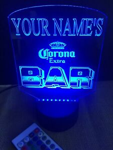 Personalized Beer Bar Led Neon Light Sign Custom Free Standing Man Cave Room