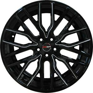 4 Flare 20 Inch Black Mill Rims Et20 Fits Acura Tl Type S Except Brembo 2007 08