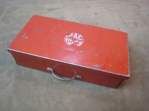 Vintage Red Mac Tool Small Metal Box 1 Drawer For 1 4 Drive Socket Ratchet Set
