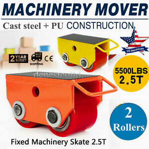 360 industrial Machinery Mover 5500lb 2 5t Heavy Duty Machine Dolly Skate Roller