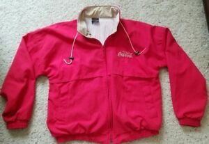 Vintage Coca Cola Jacket  XL Red With White Mesh Liner