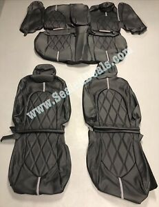 2018 2019 Toyota Camry Le Se Roadwire Black Diamond Perf Leather Seat Covers