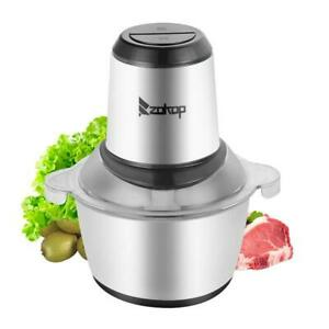 Us Standard 2l 110v 300w Stainless Steel Electric Two Files Meat Grinder Mixer