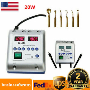 Dental Lab Electric Wax Waxer Double Carving Pen Pencil Carver With 6 Tips Usa