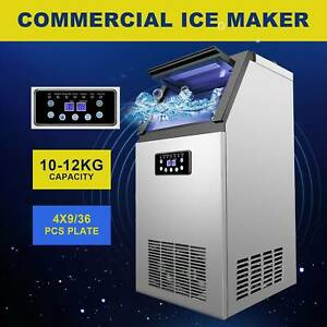 Commercial Ice Maker Machine For Restaurant Bar 100lb 24h 300w 4x9 36 Ice Cube