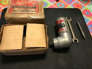 Milwaukee Tools Right Angle Drive Unit Drill Kit 2870 In Box W Wrench