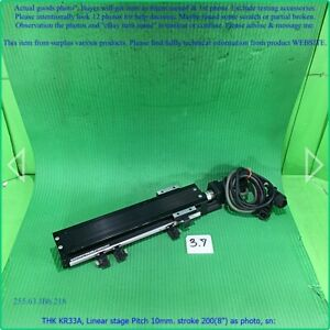 Thk Kr33a Linear Stage Pitch 10mm Stroke 200 8 As Photo Sn 9934 Dhltous