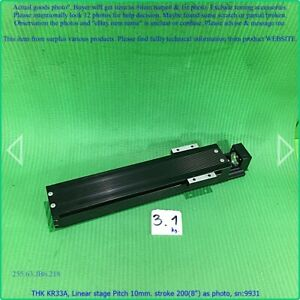 Thk Kr33a Linear Stage Pitch 10mm Stroke 200 8 As Photo Sn 9931 Promotion