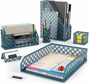Arteza Desk Organizer Dark Green 6 Piece Set