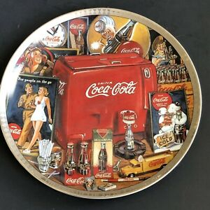 "Vintage Coca Cola Era 8 5""Plate Cork Btm Trivets The Eras Of Coca Cola 1940-1950"