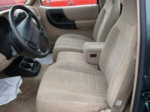 1991 1997 Ford Ranger Explorer 60 40 Bench Seat Car Seat Covers In Tan Twill