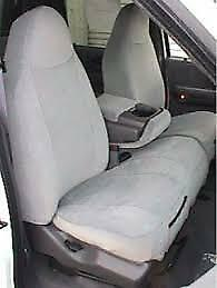 1997 1999 Ford F150 Front Car Seat Covers With 60 40 Split Seat In Gray Twill