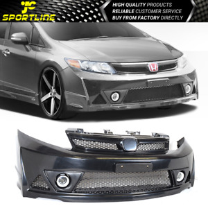 For 12 14 Honda Civic 4dr Mug Rr Style Abs Front Bumper Conversion Usdm Only