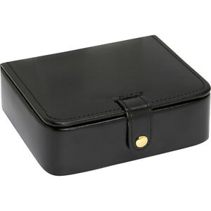 Budd Leather Leather Stud ring Box Black Business Accessorie New