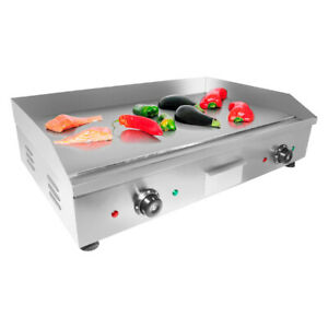 Flat Top Griddle Teppanyaki Grill With Double Thermostat Manual Control