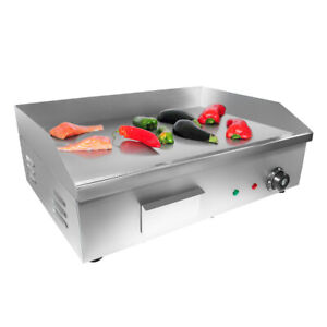 Flat Top Griddle Teppanyaki Grill With Single Thermostat Commercial Griddle