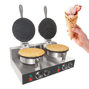 Waffle Cone Maker Commercial Double Ice Cream Waffle Cone Maker Teflon
