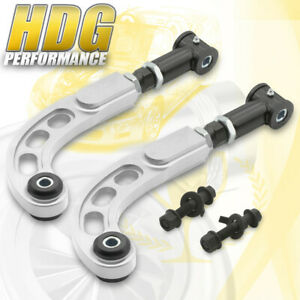 2005 2010 Scion Tc Ant10 Race Adjustable Front Bolt Rear Camber Arm Kit Silver