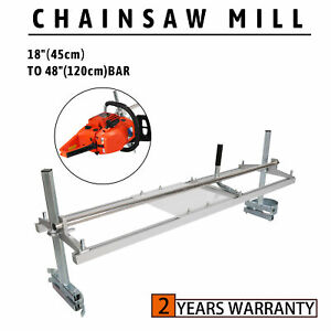 New Portable Chainsaw Mill 48 Inch Planking Milling 18 To 48 Guide Bar Rack