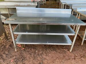 Heavy Duty 60 X 30 Commercial Stainless Steel Kitchen Work Prep Table Nsf