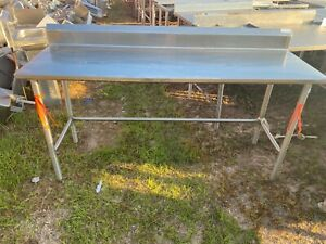 Heavy Duty 72 X 23 5 Commercial Stainless Steel Work Kitchen Prep Table Nsf