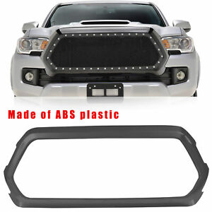 Fit 16 20 Toyota Tacoma Black Abs Plastic Grill Shell Outer Surround