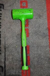 Snap On Tools Dead Blow Hammer 56 Oz Rare Green Soft Grip Handle New Hbfe56