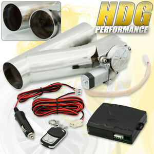 3 76mm Electric Exhaust Catback Downpipe Cut Out Valve System Kit With Remote