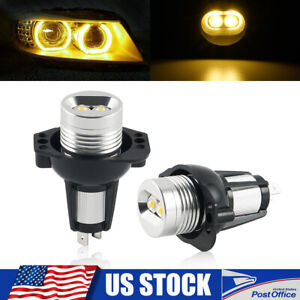 Fit For Bmw E90 E91 Led Angel Eyes Halo Ring Marker Light Lamp Bulb Yellow Amber