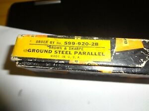 Brown And Sharpe 599 920 28 Ground Steel Parallel