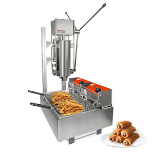 Churros Machine With Working Stand Manual Deep fryer Stainless Steel 5l