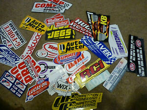 Huge Lot Of 70 Vtg Sticker Decal Lot Race Car Advertising Parts Racing Jegs Nos