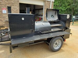 Pro Bbq Smoker Catering Business 30 Grill Double Door Smoker Trailer Food Truck