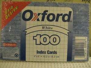 Oxford Ruled Index Cards 4 X 6 100 Per Pack