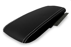 Console Armrest Cover Leather For Ford Crown Victoria 2003 2011 White Stitch