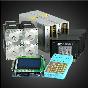Revolutionary 5a Tb6600hg Stepper Controller Cnc Kit 4 Axis Nema24 3 3nm Motor
