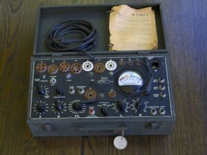 Excellent Working Vintage I 177 B Tube Tester Father Of Tv 7 Tested 5u4 6sn7
